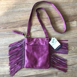 Lucky Brand Leather Fringe Crossbody Purse NWT
